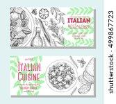 italian food vintage design...   Shutterstock .eps vector #499867723