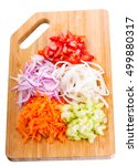 Fresh Chopped Vegetables On A...