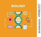 biology and science education... | Shutterstock .eps vector #499881517