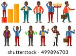 set of business people.... | Shutterstock .eps vector #499896703