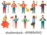 set of business people.... | Shutterstock .eps vector #499896943