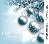 christmas invitation with... | Shutterstock .eps vector #499902187