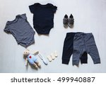 baby clothes  concept of child... | Shutterstock . vector #499940887