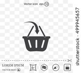 vector shopping basket icon | Shutterstock .eps vector #499945657