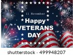 happy veterans day greeting... | Shutterstock .eps vector #499948207