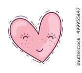 heart shape design | Shutterstock .eps vector #499955647