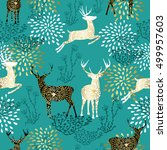 christmas seamless pattern with ... | Shutterstock .eps vector #499957603