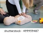 first aid cardiopulmonary... | Shutterstock . vector #499959487