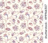 floral pattern. flourish... | Shutterstock .eps vector #499966507