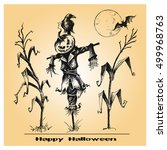 halloween vector collection.... | Shutterstock .eps vector #499968763