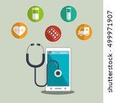 medicine online design | Shutterstock .eps vector #499971907
