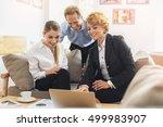 friendly business team... | Shutterstock . vector #499983907