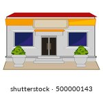 shop on street | Shutterstock .eps vector #500000143