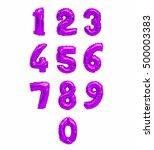 Numbers Of Purple  Violet...