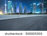 empty asphalt road through... | Shutterstock . vector #500005303