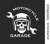 vintage motorcycle emblems ... | Shutterstock .eps vector #500008663