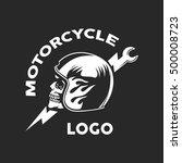 vintage motorcycle emblems ... | Shutterstock .eps vector #500008723
