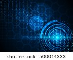 abstract technology digital... | Shutterstock .eps vector #500014333