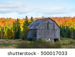 Old Wooden Barn Against...