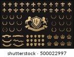 heraldic crest logos elements... | Shutterstock .eps vector #500022997