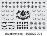 heraldic crest logos elements...   Shutterstock .eps vector #500023003