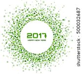 green circle new year 2017 on... | Shutterstock .eps vector #500032687