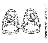 vector sketch illustration  ... | Shutterstock .eps vector #500043817