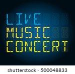 live music concert | Shutterstock .eps vector #500048833