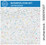 business icon set clean vector | Shutterstock .eps vector #500059207