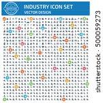 industry icon set clean vector | Shutterstock .eps vector #500059273