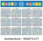 big icon set clean vector | Shutterstock .eps vector #500071177
