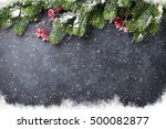 christmas stone background with ...