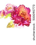 greeting card with flowers.... | Shutterstock . vector #500090773