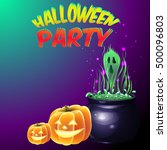 halloween party for invitation... | Shutterstock .eps vector #500096803