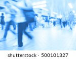 people traveling at train... | Shutterstock . vector #500101327