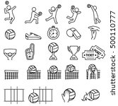 volleyball icon set | Shutterstock .eps vector #500110777