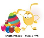 background with colorful egg ... | Shutterstock .eps vector #50011795