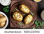 Baked Stuffed Potatoes With...
