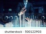 modern technologies in use .... | Shutterstock . vector #500122903