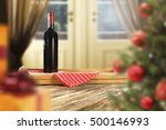 Christmas Wine And Xmas Tree