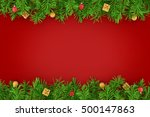 christmas fir tree decoration... | Shutterstock . vector #500147863