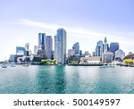 boston harbor and financial... | Shutterstock . vector #500149597