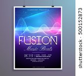 music beats party flyer... | Shutterstock .eps vector #500152873