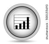 chart bars icon. internet... | Shutterstock . vector #500155693