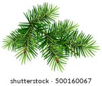 Green Christmas Pine Tree...