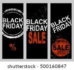 set of banners. black friday... | Shutterstock .eps vector #500160847
