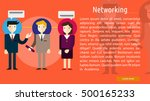 networking conceptual banner | Shutterstock .eps vector #500165233