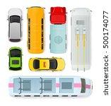 set of transport units. public... | Shutterstock . vector #500174077