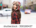 pretty latin girl wearing a...   Shutterstock . vector #500180437