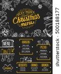 christmas restaurant brochure ... | Shutterstock .eps vector #500188177